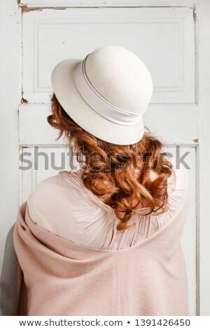 Hat элегантный платье изолированный белый Сток-фото © Elnur