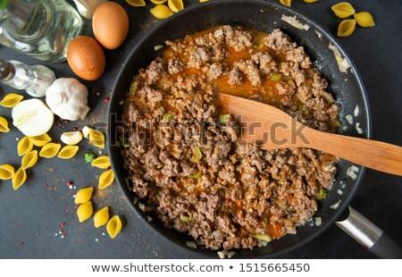 Gevuld pasta houten spatel voedsel Stockfoto © Digifoodstock