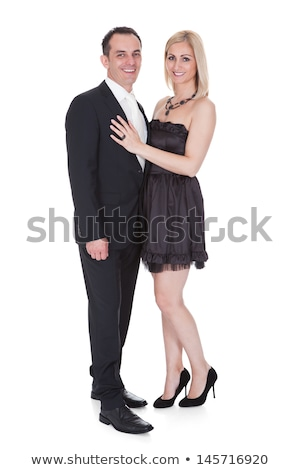 elegant couple posing together stock photo © neonshot