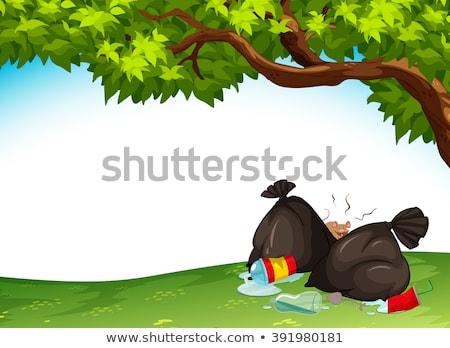 onzin · park · scène · illustratie · papier · ontwerp - stockfoto © bluering