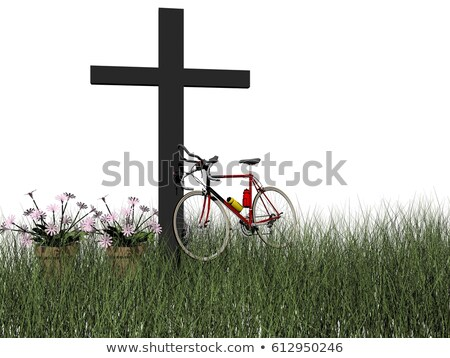 death in a bicycle accident - 3d render Stock photo © mariephoto