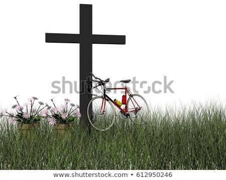 morte · bicicleta · acidente · 3d · render · isolado · branco - foto stock © mariephoto