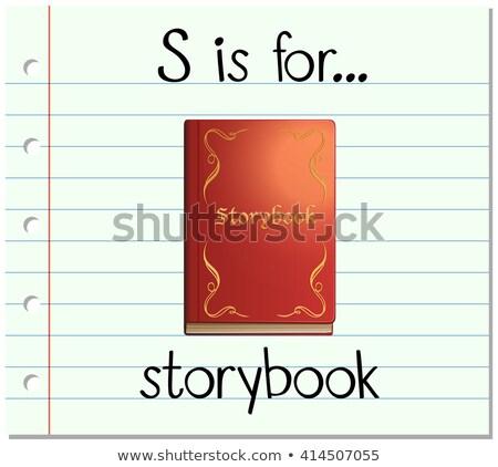 Brief verhalenboek illustratie kinderen kind achtergrond Stockfoto © bluering
