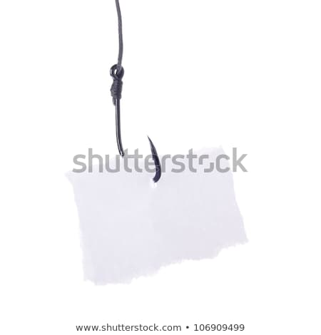 Fishing Hook and Notepaper Stock photo © devon