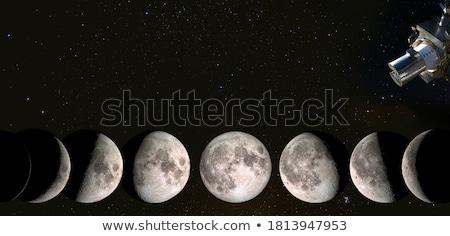 gyantázás · hold · copy · space · kék · ég · mutat · szöveg - stock fotó © suerob