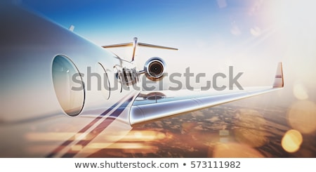 private aviation and sunset Stock photo © tracer