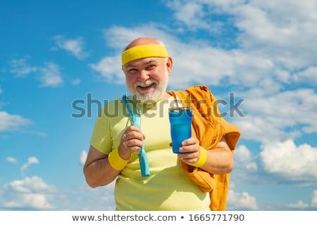 старший Runner практика небе трава Сток-фото © digoarpi