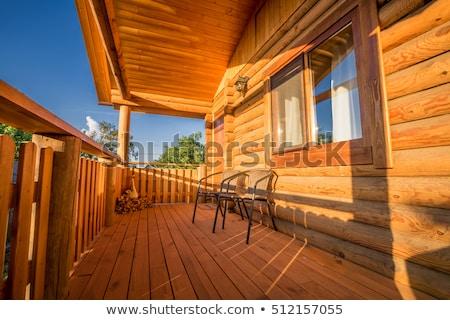 Casa varanda ilustração edifício madeira Foto stock © bluering