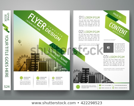 ビジネス · パンフレット · チラシ · デザインテンプレート · 会社 · マーケティング - ストックフォト © sarts
