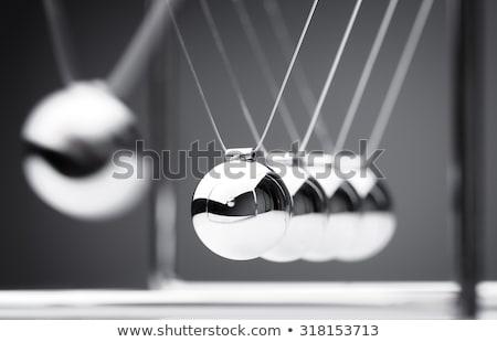 Wiege 3D-Darstellung Erhaltung Schwung Energie Metall Stock foto © idesign