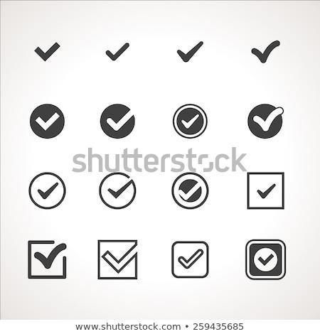 Stock photo: Tick icon flat
