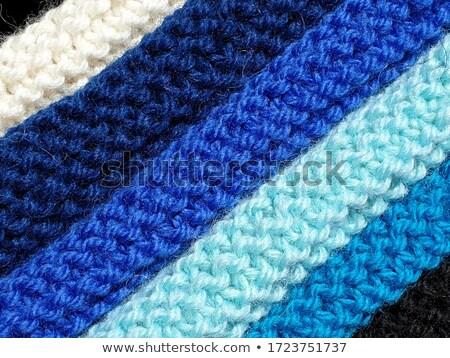sötét · kék · vászon · textúra · közelkép · kilátás - stock fotó © sarahdoow