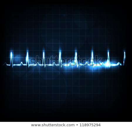 Human heart rhythm, beautiful bright design Stock photo © Tefi