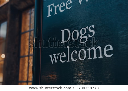 ПЭТ дружественный знак собака сердце дизайна Сток-фото © bokica
