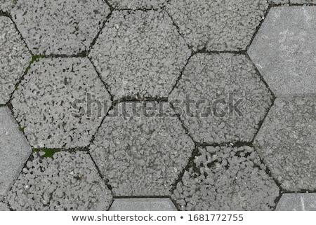 Top view of interlocking concrete paver surface Stock photo © stevanovicigor