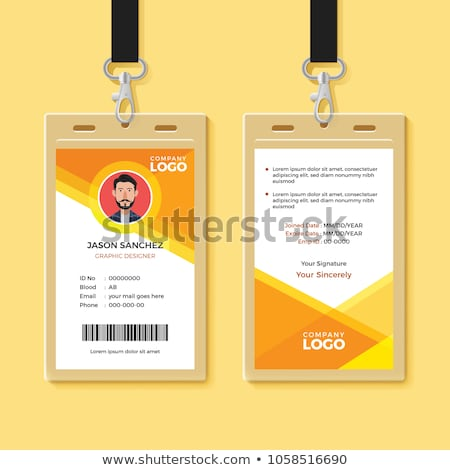 lanyard with badge access card design mockup stock photo © sarts