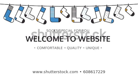 Bienvenida sitio web calcetines tienda color Foto stock © softulka