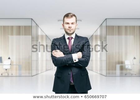 бизнесмен · Постоянный · лестнице · белый · мужчины · карьеру - Сток-фото © deandrobot