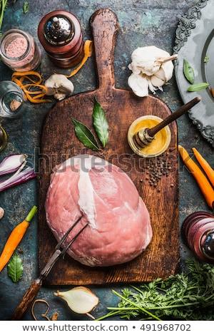 Crudo miel cerdo frescos nadie Foto stock © Digifoodstock