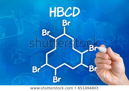 strony · pióro · rysunek · chemicznych · wzoru · cholesterol - zdjęcia stock © zerbor