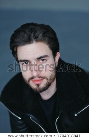 Сток-фото: портрет · молодые · модель · белый · куртка