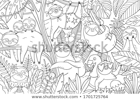 コレクション 夏 カラフル パターン ベクトル 漫画 ストックフォト © curiosity