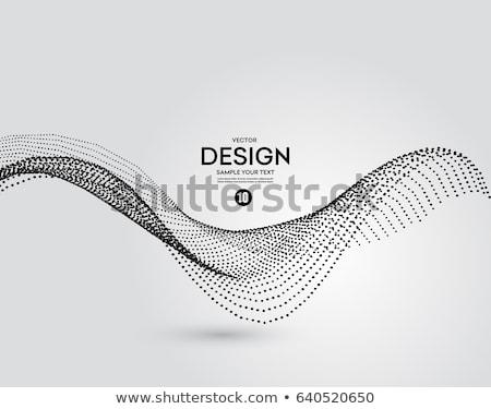 3D · частица · волна · динамический · аннотация - Сток-фото © fresh_5265954