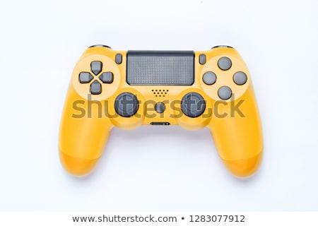 modern · botkormány · gamepad · videojáték · izolált · fehér - stock fotó © wavebreak_media