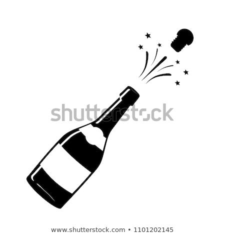 çift · şampanya · şişe · Noel · parti · kutlama - stok fotoğraf © adrenalina
