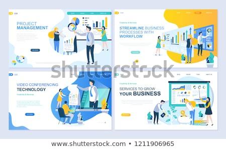 web · ontwikkeling · business · vector · ingesteld - stockfoto © genestro