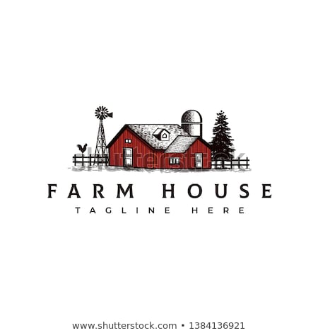 Old farm house in the field Stock photo © hraska