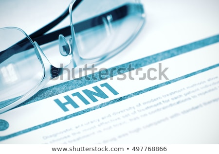 Diagnózis h1n1 orvosi elmosódott jelentés világoszöld Stock fotó © tashatuvango