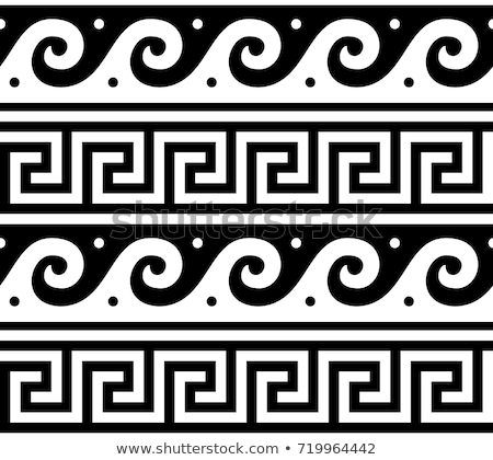 ancient vector greek seamless pattern   tradional waves and key pattern form greece stock photo © redkoala