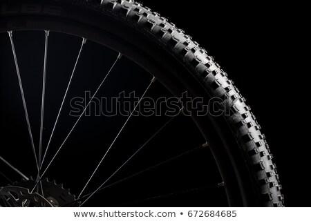 Moderne race mountainbike band geïsoleerd zwarte Stockfoto © lightpoet