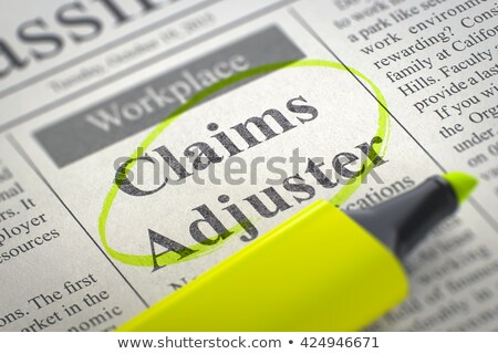 we are hiring claims adjuster 3d stock photo © tashatuvango