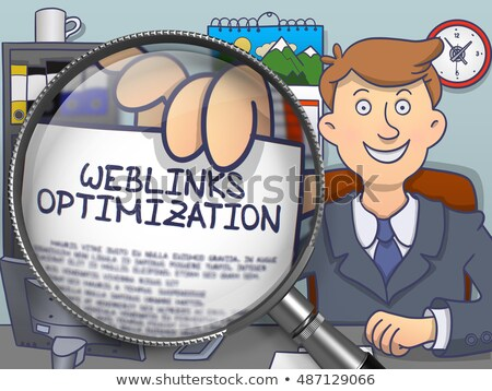 Weblinks Optimization through Lens. Doodle Style. Stock photo © tashatuvango