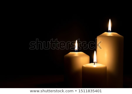 All candles burning, Advent background Stock photo © andreasberheide