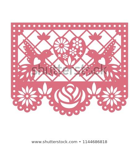 Hochzeitseinladung Vektor Karte Vorlage mexican Stil Stock foto © RedKoala