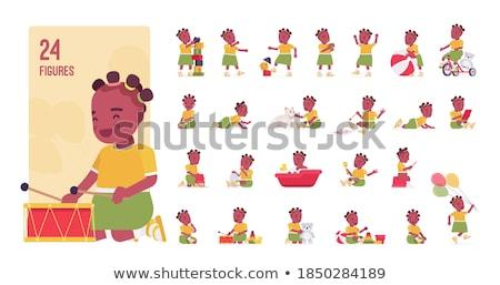 pequeno · menino · sessão · papel · higiênico - foto stock © traimak