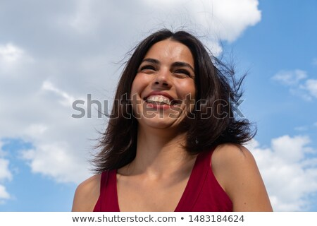 Nők mosolyog lövés alulról fotózva nő gyermek Stock fotó © IS2