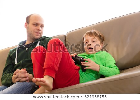 Toddler with Video game controller Stock photo © IS2