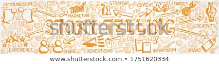 Marca garabato naranja palabra negocios ilustración Foto stock © tashatuvango