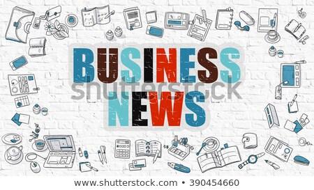 financial news in multicolor doodle design stock photo © tashatuvango