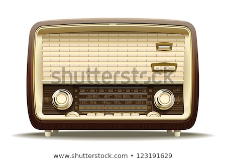 vintage · radio · appareil · isolé · blanche - photo stock © milisavboskovic