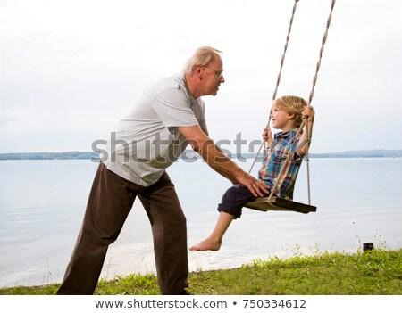 Nonno nipote swing amore uomo bambino Foto d'archivio © IS2
