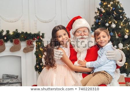Papai noel pequeno menino alegre natal Foto stock © derocz