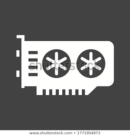 computador · processador · lasca · cabo · arame · símbolo - foto stock © trikona