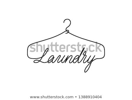 cabide · lavanderia · serviço · vetor · ícone - foto stock © MarySan