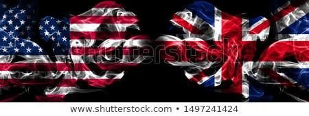 Fußball Flammen Flagge Vereinigtes Königreich schwarz 3D-Darstellung Stock foto © MikhailMishchenko