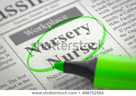 nursery nurse job vacancy 3d stock photo © tashatuvango